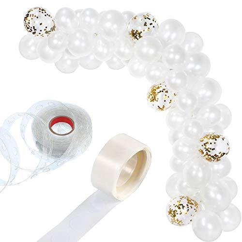 llon Girlande Kit Ballon Bogen Girlande für Hochzeit Geburtstag Partydekorationen (Perlweiß) ()