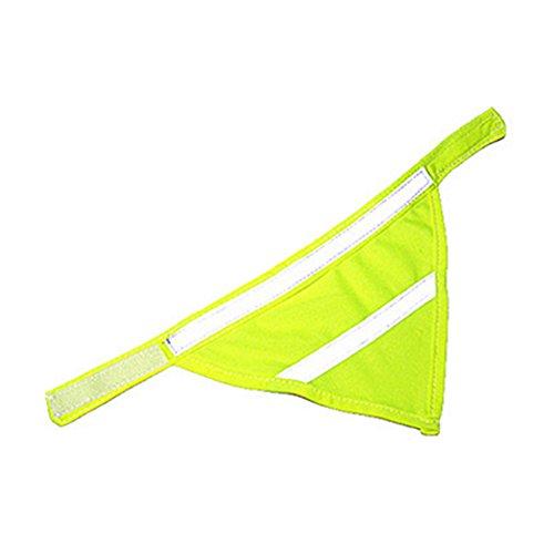de Bandana Triangle Schal, Speichel Handtuch Pet Hund Katze Halsband Nacht Sicherheit, green-l ()