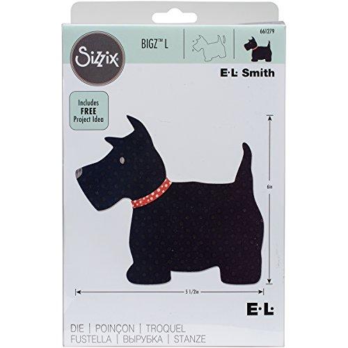 Sizzix Scottie Hund von E.L. Smith Bigz L Stanze, Plastik/Holz/Stahl, Mehrfarbig, 24.1 x 15.4 x 1.9 cm -