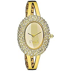 D&G Watch Music Lady IPG Stones Gold Dial BRC DW0277 Ladies Watch