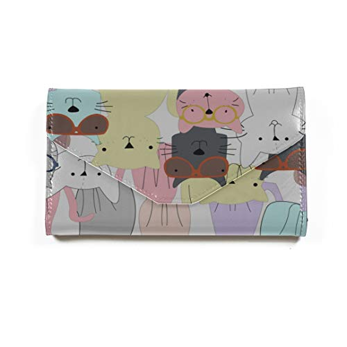 Jungen Pass Fall Charming Brille Frendly Cat Passport Wallet Passinhabers Abdeckung Fall Für Frauen Männer Reisegepäck RFID Blocking Mens Passport Fall