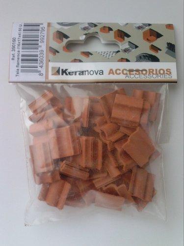 Keranova 350160. 50 unidades teja flamenca miniatura escala 1:20