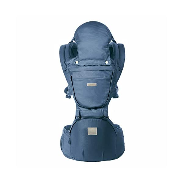 ThreeH Baby Carrier Newborn Lightweight Ergonomic Hip Seat with Hood Soft and Breathable Cool Air Mesh for All Seasons BC28 Navy ThreeH 【High Quality Material】Soft polyester fabric, organic cotton , breathable 3D mesh for maximum air circulation.Suitable baby (4-36 months / 12-44 pounds) 【Wider and Thicker strap】 Shoulder strap and waist band are all using broad and wide padding,which is very breathable.Parents won't feel tired if they carry baby for a long time. It is release parents burden a lot. 【Removable hood and front panel】Hood overhead is useful in summer and winter,sun shield or windproof,offering best protection for baby. Breathable mesh is cool in summer. 1