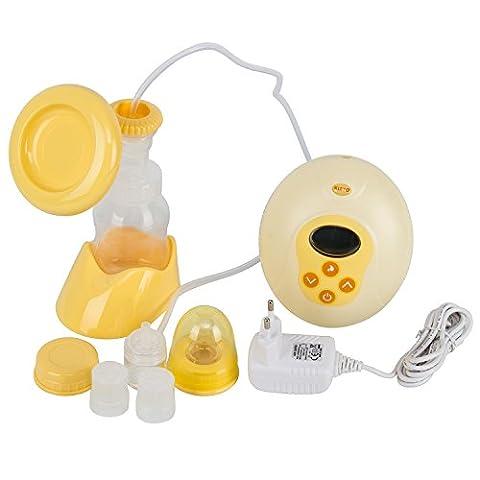 Tire-Laits Électrique Single Pompages Automatiques et Portables, 1 Biberons Sécuritaire pour Allaitement Nouveau-né, Maternel Pompe à lait BPA Free-KINYO (Single pompage)