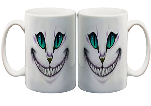 Mad Smiling Cat 11 Oz. Custom Mug (Mad Dog Womens)
