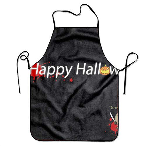 Holiday Halloween Happy Adjustable Apron for Kitchen Garden Cooking Grilling (Happy Halloween Plus Size)