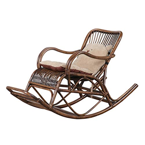 HYYTY-Y Rattan Schaukelstuhl, Long Footrest Terrasse Nap Lounge Chair, Home Easy Chair 629-YY - Easy Lounge Chair