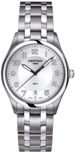 Certina Homme 38mm Argent Acier Bracelet & Boitier Date Montre C0224101103000