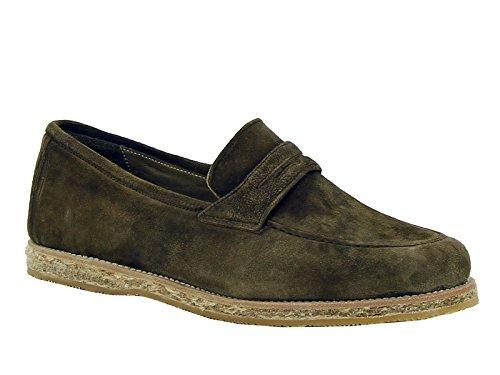 Andrea Ventura Firenze Loafer im Schlamm Veloursleder - Modellnummer: CBUF56 TASCA ADLER Schlamm