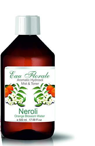 Hydrolat Eau Florale d'Orange 500ml - Brumisateur Tonique Calmant et Anti Taches Anti Age