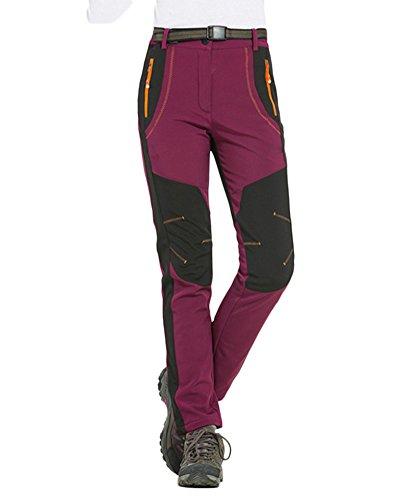 Coppia pantaloni da trekking uomo/donna pantaloni softshell da arrampicata escursionismo pantaloni impermeabili bodeaux donna m