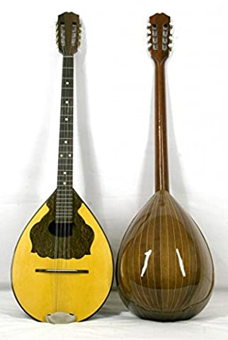 Musikalia Luthery Greek Bouzouki, in Mansonia walnut, soundboard purfled and inlaid - with Hard Case in ABS,