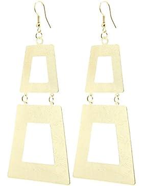 2LIVEfor Lange Statement Ohrringe Silber Gold Viereck modern Ohrringe lang Hängend Groß Blatt Ohrringe geometrisch...