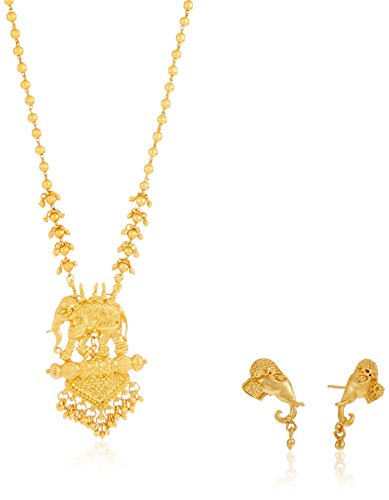 Sukkhi Jewellery Set for Women (Golden) Matte finish (N71788GLDPV1450)