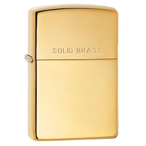 Zippo High Polish Brass  Lighter - High Polished Brass