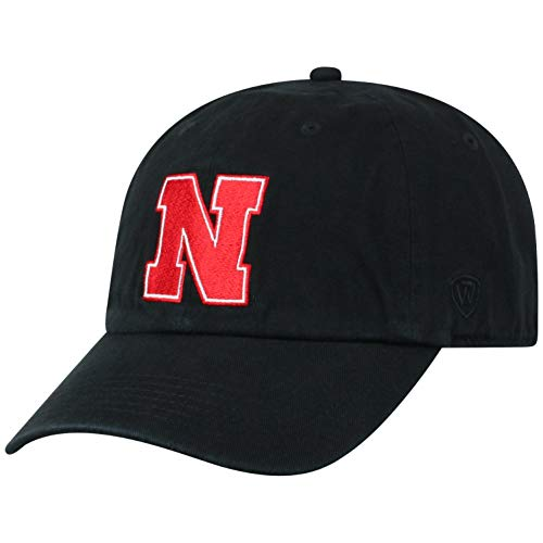 ren Mütze NCAA Adjustable Relaxed Fit Black Icon, Herren, NCAA Men's Adjustable Hat Relaxed Fit Black Icon, Nebraska Cornhuskers Black, Einstellbar ()