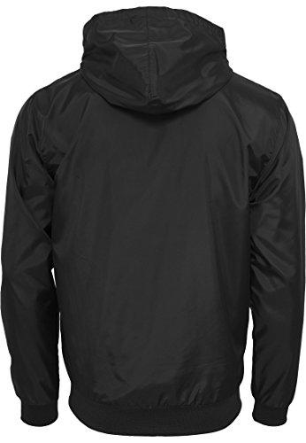 Herren Contrast Windrunner Jacke in versch. Farben Black/White