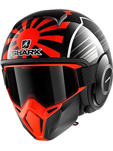Shark Casque moto STREET DRAK ZARCO MALAYSIAN GP KOA, Noir/Orange, L