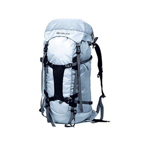 zaino trekking Maschio / Femmina 35L grande capacità all'aperto alpinismo sacchetto impermeabile Borsa a tracolla Leisure Travel Zaini da escursionismo ( Colore : B , dimensioni : 35L-70*40*30cm ) A