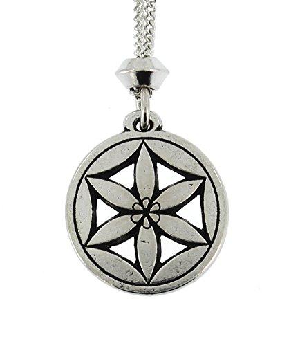 handmade-greek-goddess-flower-of-aphrodite-pewter-chain-pendant