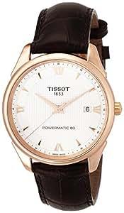 TISSOT - Montre Homme Tissot Vintage Powermatic 80 T9204077603800 Bracelet Cuir Marron - T9204077603800