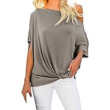 11735e26bed019 Frashing Kurzärmeliges T-Shirt mit Kurzen Ärmeln für Damen Dolman Ärmel  Lockeres T-Shirt