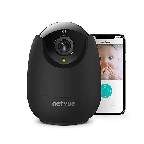 WLAN Kamera, NETVUE Überwachungskamera Innen WLAN Handy IP Kamera Babyphone  mit Bewegungserkennungsalarm, Nachtsicht, Zwei-Wege-Audio Haustier Kamera
