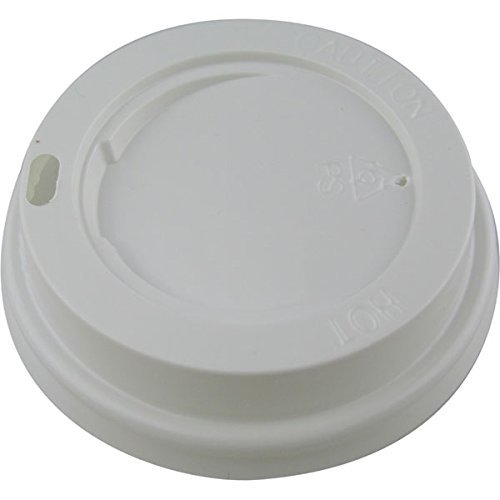 100 x White 8oz Sip Lid for Kraft Ripple Coffee Cups