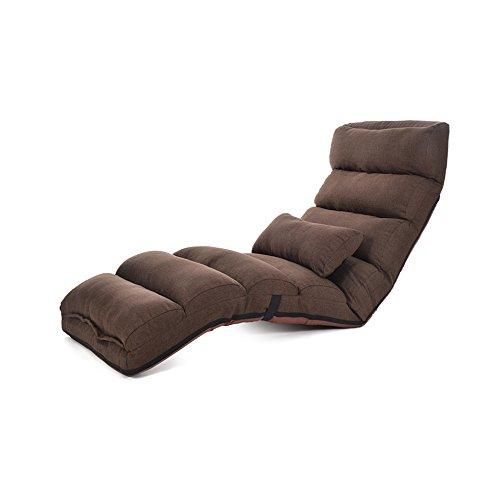 Schlafzimmer Liege (YANFEI Lazy Sofa Multi-Speed   Adjustment Faltbare Single Stuhl Waschbar Stoff Liege Sofa Stuhl Wohnzimmer Schlafzimmer Balkon Lounge Chair (Farbe : Brown))