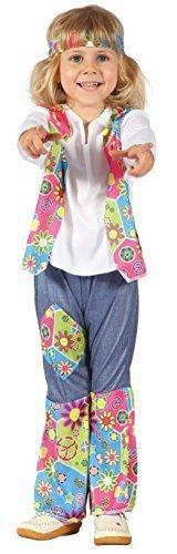 en Kleinkinder 1960s Jahre 1970s Hippie Kostüm Kleid Outfit 2-3 J - Mädchen, 2-3 years (1970 Kostüme Für Jungen)