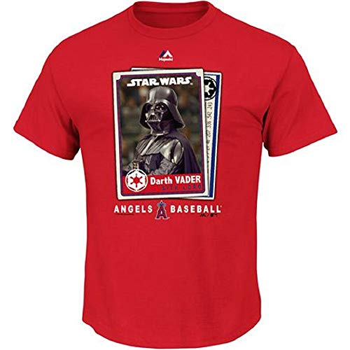 Outerstuff Los Angeles Angels MLB Majestic Youth 8-20 Star Wars Day May The 4th Darth Vader T-Shirt, Rot, rot, Youth X-Large 18-20