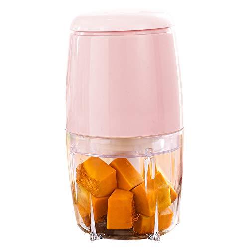 Cpippo Babynahrungszubereiter,Baby Küchenmaschine Multifunktional Tragbar,Smoothie, Milchshake, Gemüse, Fleischwolf,200W,13.5 * 13.5 * 22.3cm,500ml,Pink
