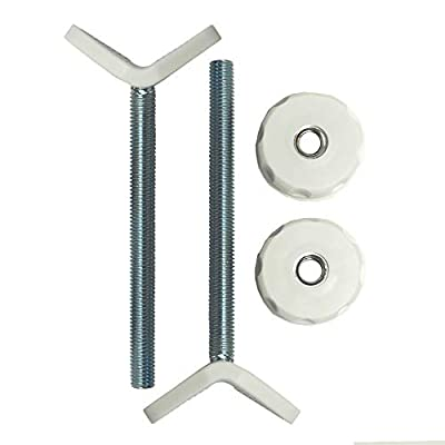 Extra Long M10 (10mm) Y-Spindle Rod Stair Banister Adapters for Pressure Mounted Gates - 2 Pack for Baby and Pet Safety Gates - Choose Your Size and Color (10mm, White)