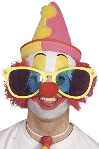 Smiffys - Brille Clown Clownbrille Riesenbrille Kostüm Fasching