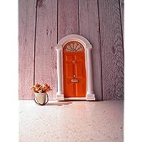 Porta in miniatura per fate, elfi e folletti con rosone fluorescente (accessori non inclusi)