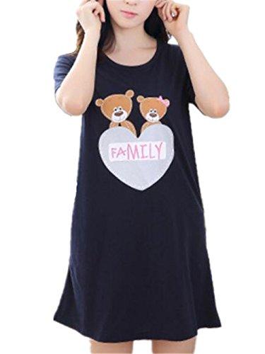 Liebe Damen Nachthemd (BESTHOO Nachthemden Damen Stilvoll Sleepwear Liebe Gedruckte Nachthemd Female Nachtkleid Pyjamas Softy Schlafkleid)