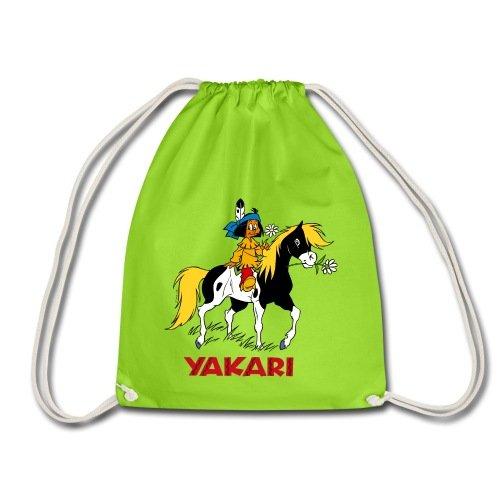 Spreadshirt Yakari Fait Du Cheval Sur Petit Tonnerre Sac de sport léger