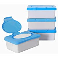 Ainstsk - Caja Portátil de Pañuelos Húmedos, Caja de Pañales de plástico para bebé,
