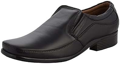 Avery Men's Black Leather Formal Shoes- 10 UK, AV6