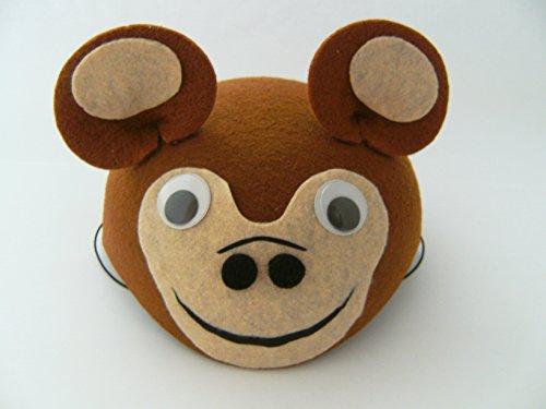 Affen Hut f. Kindergeburtstag Karneval Fasching Affe Tier Tiere Hüte Filz Mütze Kappe Maske Theater