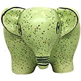 ShopMeFast Small Elephant Shape Handcrafted Ceramic Pots Ceramic Planter For Indoor Plants/Planters,Home Decor,Garden Decor,Office Decor,Decorative Succulent Pot (Color: Green)(L:10 Cm, W:14 Cm, H:9.5 Cm)