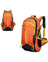 Nuevo viaje mochila bolsos de hombro al aire libre 40L impermeable montañismo bolsas , yellow