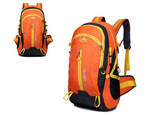 Neuer Rucksack Schultertaschen outdoor Taschen 40L wasserdicht Bergsteigen Reisetaschen Yellow