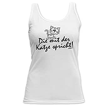 Cat Die mit der Katze spricht! TankTop T-Shirt - Top für Hundefreundinnen