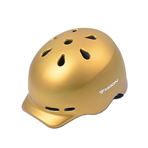 YXINY Helme MV-38 Allround Helme 14 Air Vents Fahrrad Fahrradhelm PC + EPS Männer und Frauen Helm 58-61cm Gold, Gelb Allround-Helme ( Farbe : Gold )