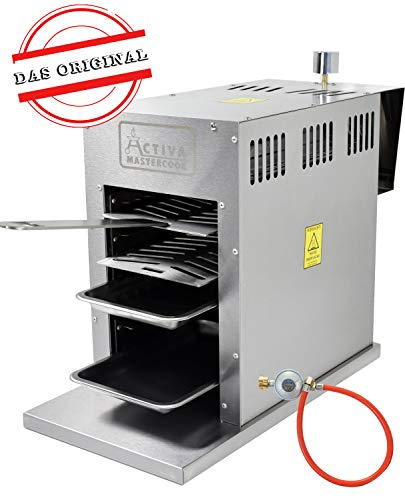 ACTIVA Grill Gasgrill Steak Machine Basic 800°C Oberhitzegrill Steakgrill Tischgrill Oberhitze-Grill