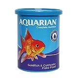 AQUARIAN Complete Nutrition, Aquarium Goldfish Food Flakes, 100 g Container