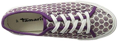 Tamaris Damen 23610 Sneakers Violett (WHT/LAVEN.DOTS 152)