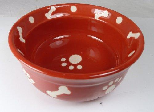 hundeinfo24.de Hundenapf, Keramik, dekorativ, Rot