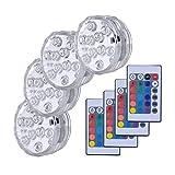 4 PCS RGB Unterwasser-Beleuchtung Unterwasser-LED-Licht-Swimmingpool-Licht Batteriebetriebene Gartenfest-Dekoration-Lampe Teich Lampe